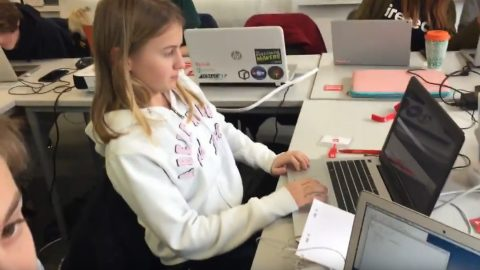 VIDEO: Students discuss one of their Python projects