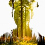 Student blends forest scene with silhouette portrait