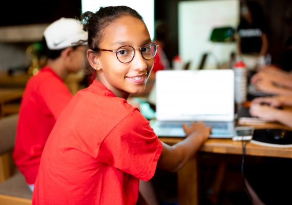 Photo: Teen Coding with Python