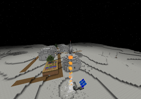 Photo: Galactic Voyager in Minecraft