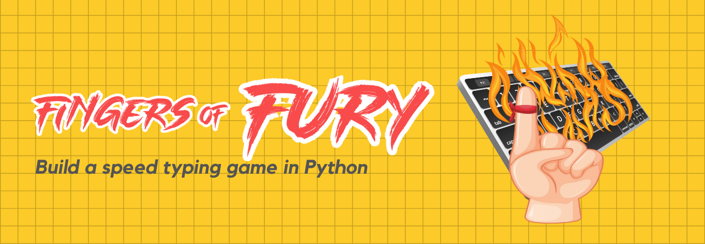 Build the Fingers of Fury speed typing game in Python